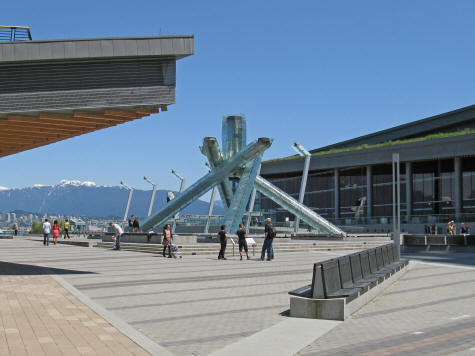 Olympic Cauldron in Vancouver Canada